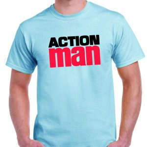 Action Man 1970's logo T shirt-0