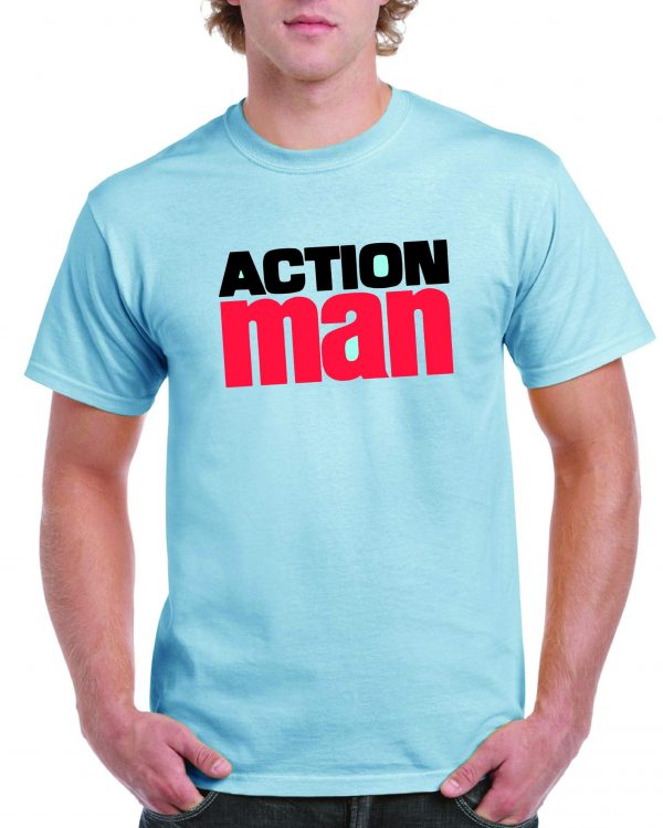 Action Man 1970's logo T shirt