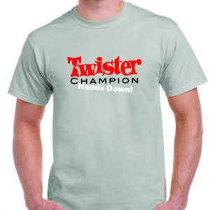 1970's Twister Game Logo T Shirt-0