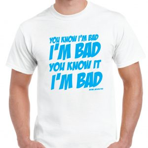 Michael Jackson - BAD Lyrics T Shirt-0