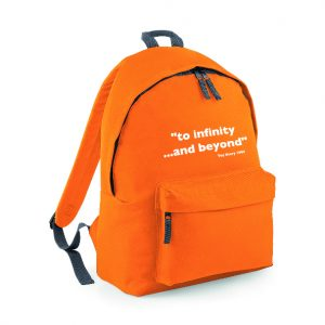 """Too Infinite and Beyond"" Toy Story inspired Rucksack / Backpack INCLUDING FREE DELIVERY-4574"