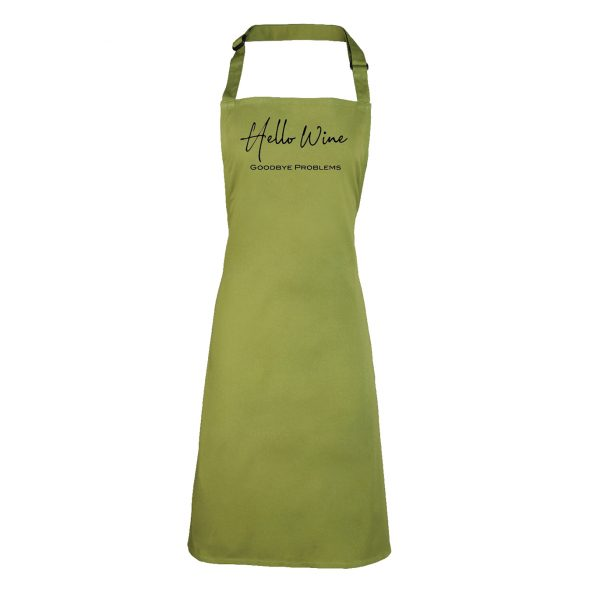 """Hello Wine"" Funny quote Apron INCLUDING FREE DELIVERY"