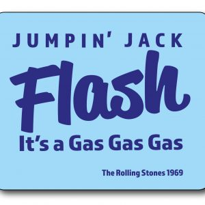 Jumpin' Jack Flash - Rolling Stones Lyrics Mousemat-0