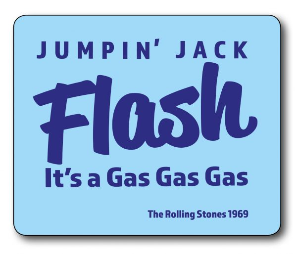 Jumpin' Jack Flash – Rolling Stones Lyrics Mousemat