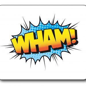 Wham Retro Sign Fantastic Mousemat-0