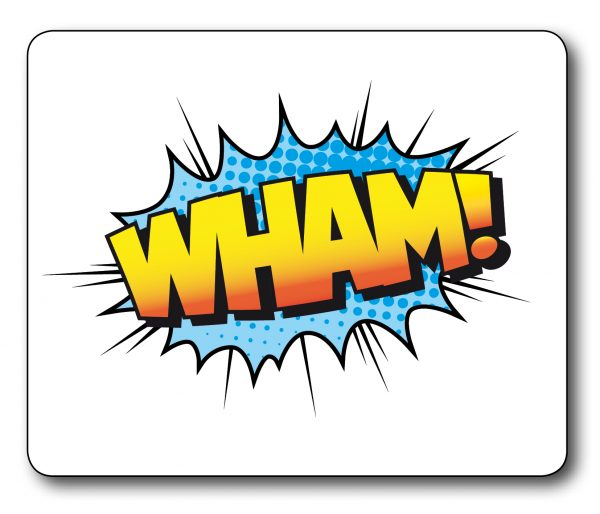 Wham Retro Sign Fantastic Mousemat