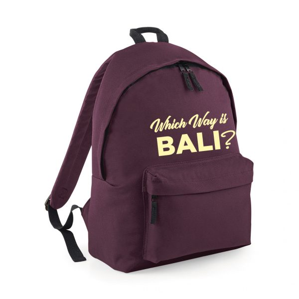 Which Way Bali – Rucksack. Fantastic Fashion Travelling Backpack – INCLUDING FREE DELIVERY