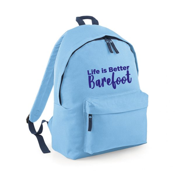 Life is Better Barefoot – Fantastic Travelling Rucksack. Exclusive to Hokey Cokey Productions – INCLUDING FREE DELIVERY