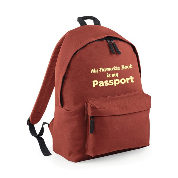 My Favourite Book is My Passport Rucksack – Fantastic 4 colours – Unique to Hokey Cokey INCLUDING FREE DELIVERY
