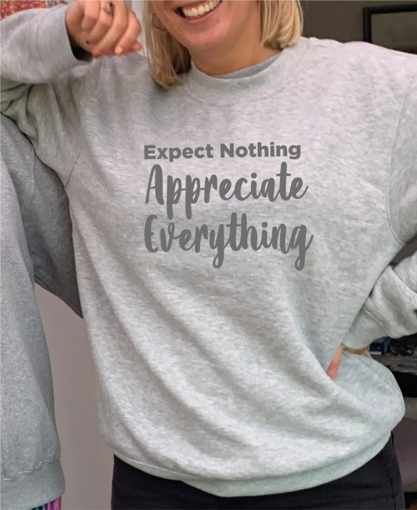 Expect Nothing – Beautiful superior quality O'l Faithful Grey Sweatshirt including Free Delivery