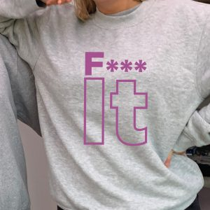 F*** It - Cheeky but beautiful superior quality O'l Faithful Grey Sweatshirt including Free Delivery-0