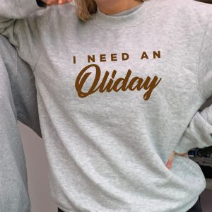 I Need an'Oliday Beautiful superior quality O'l Faithful Grey Sweatshirt including Free Delivery-0