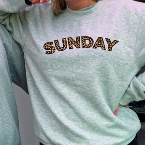 Sunday - O'l Faithful Leopard print - Beautiful superior quality O'l Faithful Grey Sweatshirt including Free Delivery-0