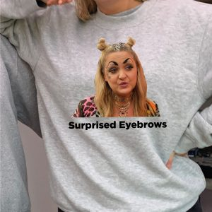 Surprised Eyebrows Colour Printed Sweatshirt - BEAUTIFUL SUPERIOR QUALITY O'L FAITHFUL GREY SWEATSHIRT INCLUDING FREE DELIVERY-0