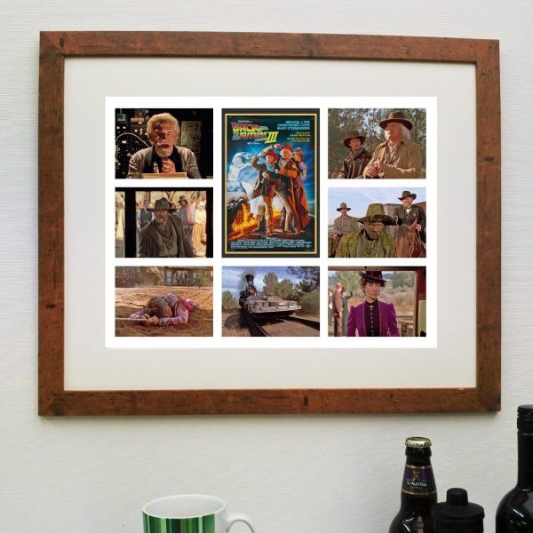 Back to the Future 3 Movie Scene'it poster including Free delivery