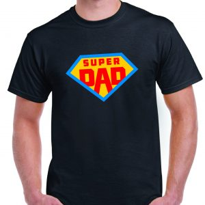 Fathers Day Super Dad - Superman Logo style T Shirt inc FREE DELIVERY-0