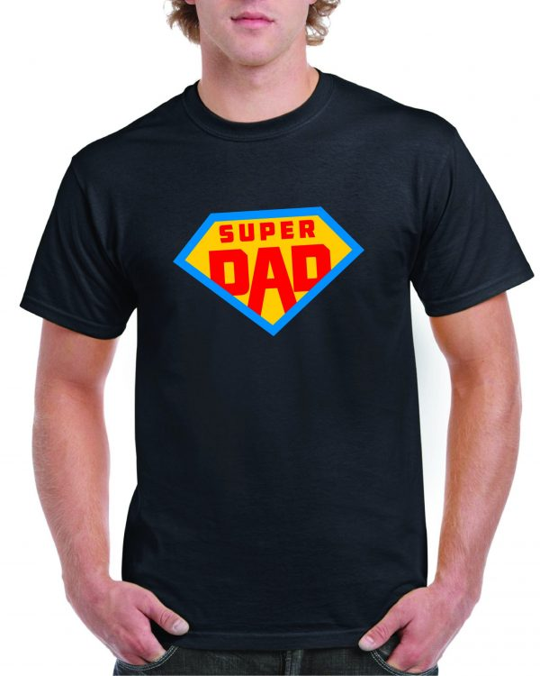 Fathers Day Super Dad – Superman Logo style T Shirt inc FREE DELIVERY