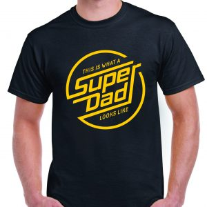 "Fathers Day ""This is What Superdad Looks Like"" Retro T Shirt Inc FREE DELIVERY-0"