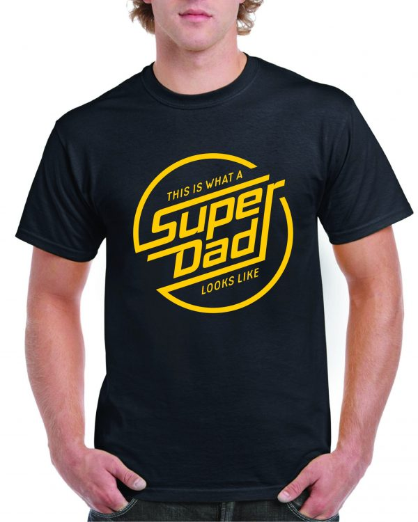 "Fathers Day ""This is What Superdad Looks Like"" Retro T Shirt Inc FREE DELIVERY"
