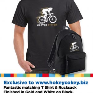 Cycling Backpack & T Shirt matching set exclusive to Hokey Cokey-0