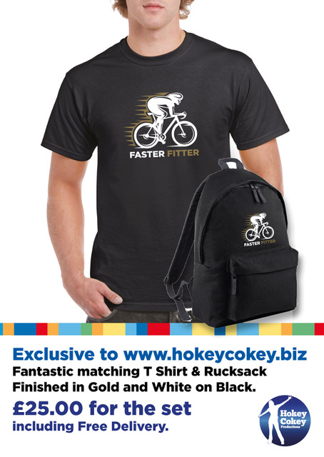 Cycling Backpack & T Shirt matching set exclusive to Hokey Cokey