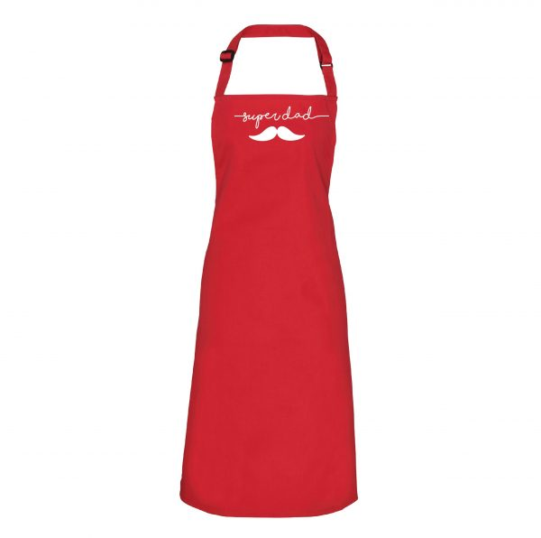 Fathers Day – Superdad Moustache Apron – inc Free Delivery