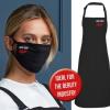 Matching Apron & Washable x2 Mask set