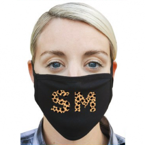 Fully washable 2ply face mask with leopard print
