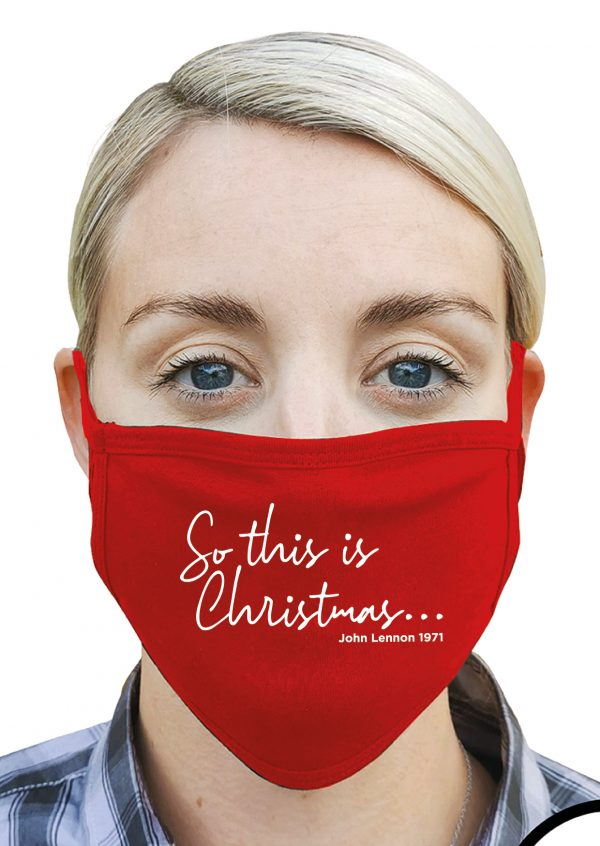 So This is Christmas (John Lennon) – Christmas Face Mask
