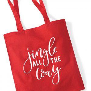 Jingle All the way - Christmas Tote Bag
