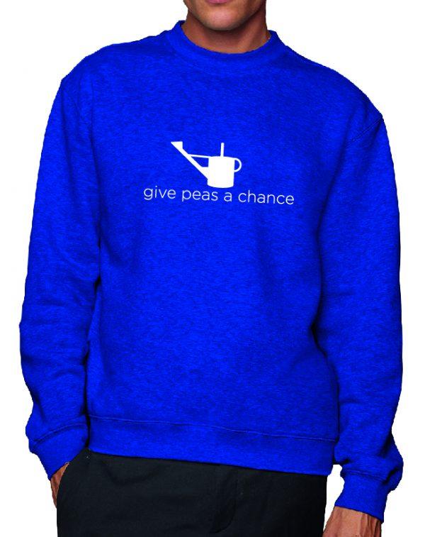 Give Peas a Chance – Sustainable Organic Unisex Sweatshirt