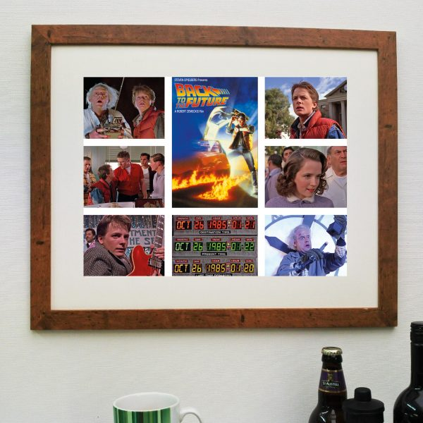 Back to the Future 1 Movie Scene'it poster including Free delivery