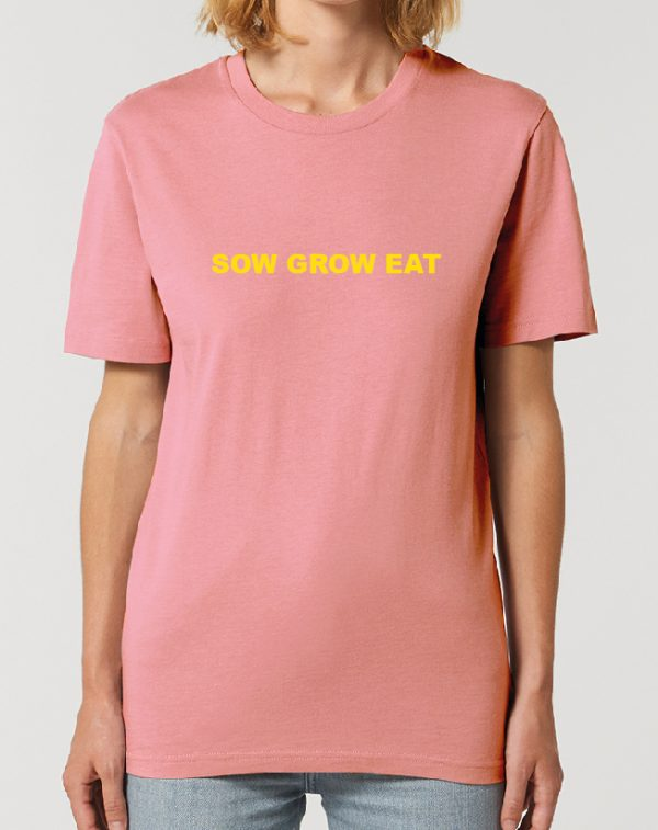 SOW GROW EAT – fantastic Gardening themed Unisex T-Shirt