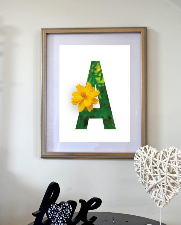 Alphabet Floral Prints