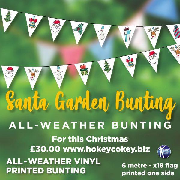 Christmas Santa. All-Weather Garden Bunting